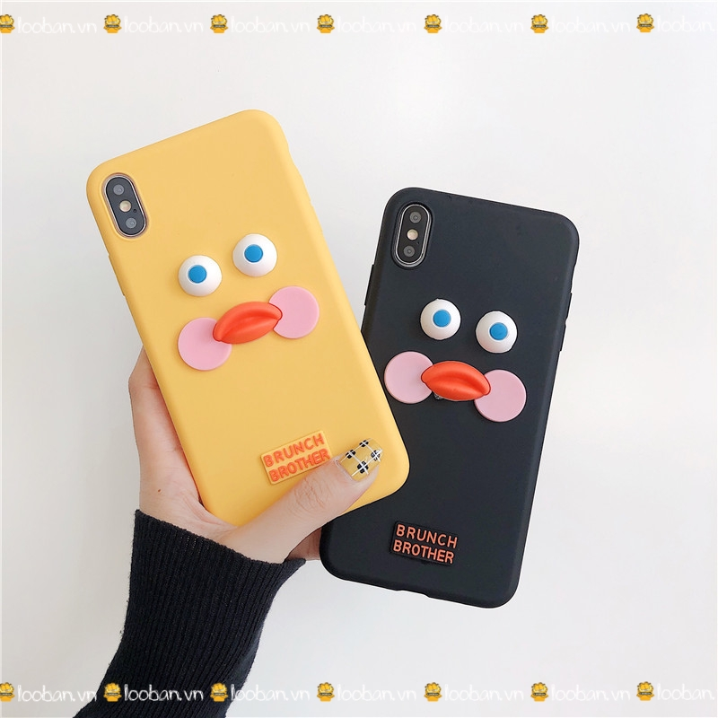 3D Cute duck silicone case For iPhone 11Pro Max 6s 7Plus 8Plus XS XR XS MAX ip6