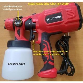 Súng phun sơn dùng điện cầm tay SPRAY Gun – 550W