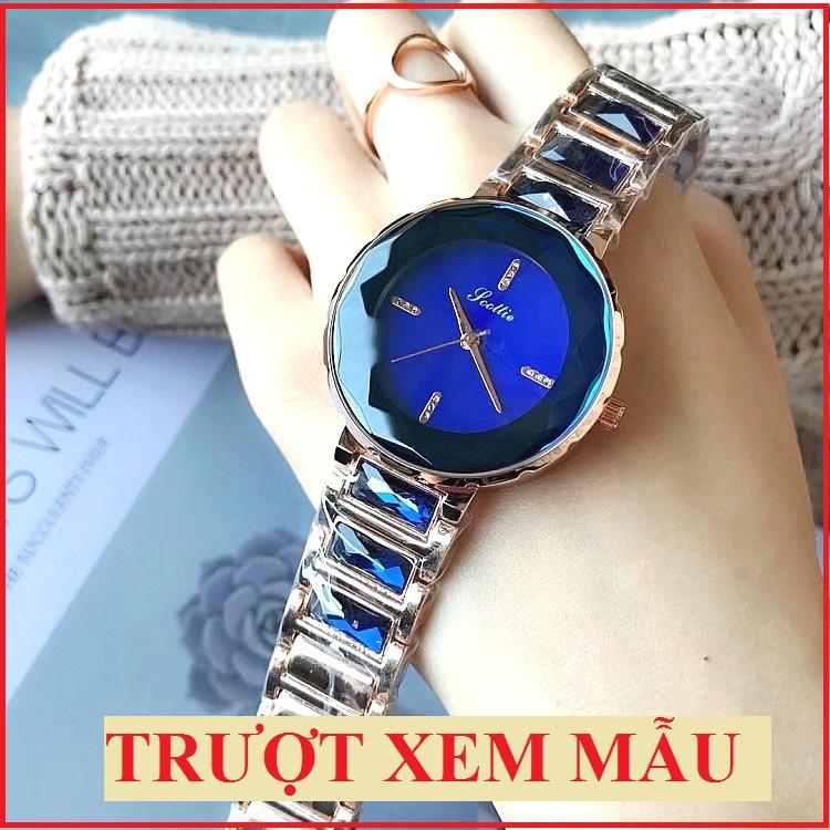 Đồng hồ Nữ SCOTTIE dây kim loại siêu sang chảnh