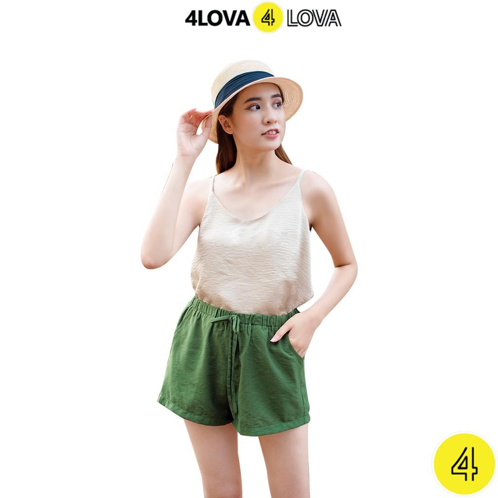 Áo 2 dây nữ 4LOVA lụa cao cấp trơn basic nhiều màu đẹp sang trọng quyến rũ