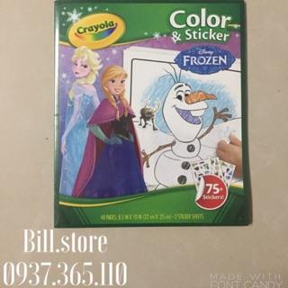 (SALE ĐỒNG GIÁ 99K) Bộ Crayola Color Sticker 75 Frozen