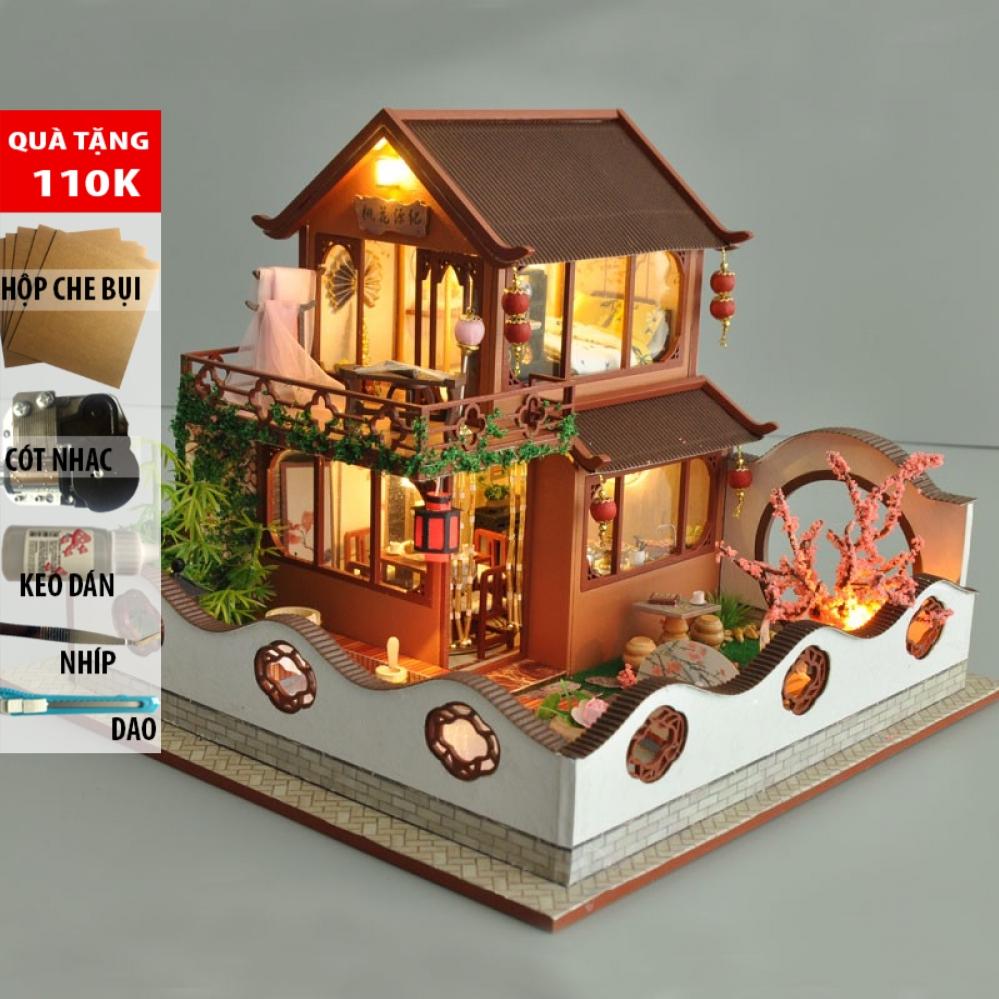 Mô hình nhà búp bê lắp ghép DIY Story of the Peach Blossom Valley TB19