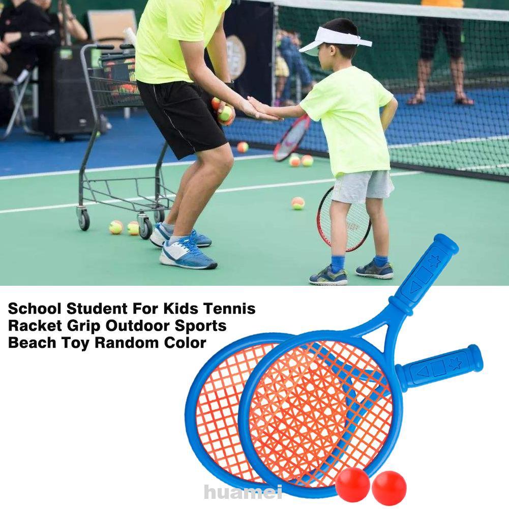 Student Competition Beginner Random Color Outdoor Sports Kindergarten Grip Playground Beach Toy Tennis Racket