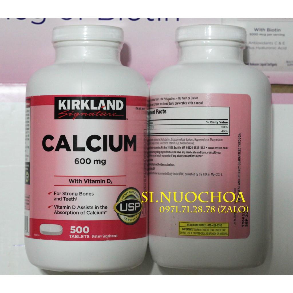 [Mẫu mới] Bổ Sung Canxi Kirkland Calcium 600mg + D3 (Date 09/2020)