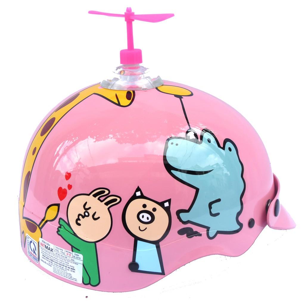 Mũ bảo hiểm 1/2 NTMAX (nhiều màu) Trumb họa tiết siêu cute