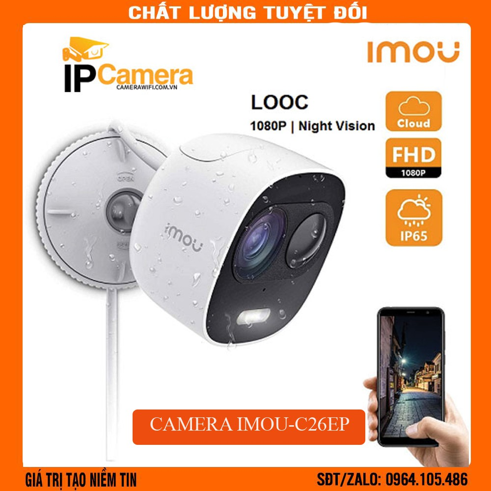 [Báo động,còi hú ] Camera ip wifi Thông Minh Imou Lechange IPC-C26EP Báo động, Âm thanh 2 chiều, Full HD 1080p