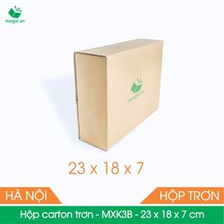 MXK3B - 23x18x7 cm - 50 Thùng hộp carton trơn đóng hàng - hình 2