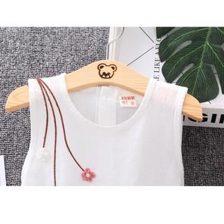 Đầm Cotton Phong Cách Thời Trang Hàng Ngày Cho Bé Gái Mã Số037