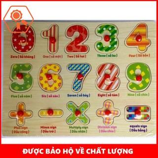 Bảng Song Ngữ 10 Số Cộng Trừ Nhân Chia (Có Núm) Cho Bé Vivitoys 247 Tiện Dụng | TẠI HÀ NỘI