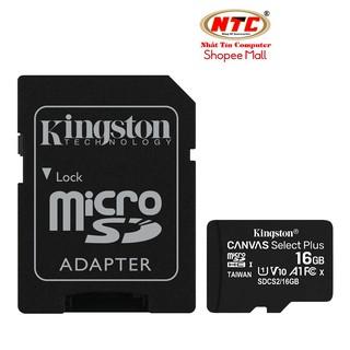 Thẻ nhớ microSDHC Kingston Canvas Select Plus 16GB 100MB s U1 V10 A1 - Kèm Adapter (Đen) thumbnail