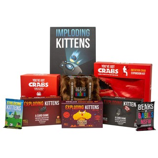 Family Board Game Exploding Kittens Card Games Party Game Red Basic & NSFW pack Ready Stock