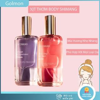 Xịt thơm toàn thân nước hoa body Shimang 50ml xịt khử mùi Body Mist chính hãng nội địa Golmon thumbnail