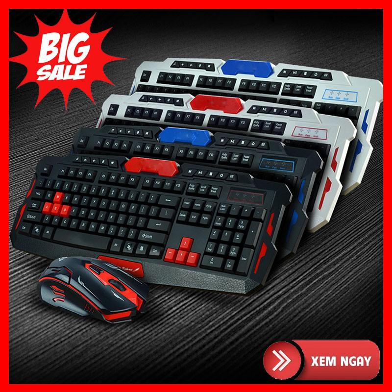 {SALE} Bộ bàn phím và chuột không dây Gaming HK8100 tốc độ cao, tiết kiệm điện năng Giá chỉ 500.000₫