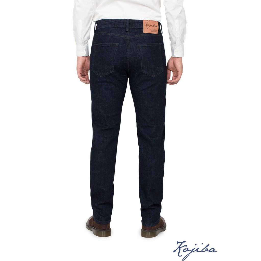 Quần jeans nam Kojiba dáng slimfit siêu bền màu xanh đen -