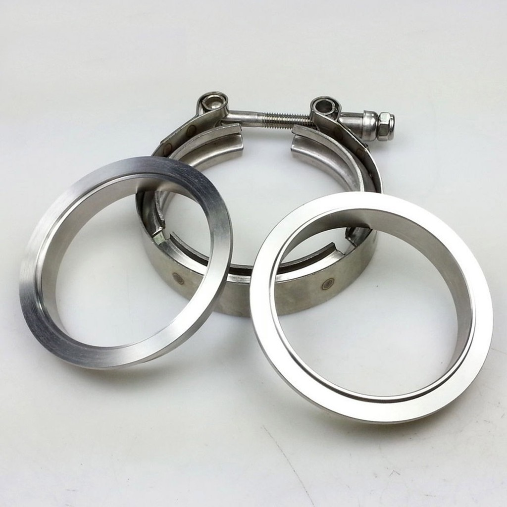 ❀NEW❀Stainless Clamp + Flanges Exhaust Downpipe Turbo Set