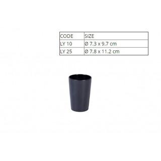 Ly Nhựa Melamine Màu Đen Trà Đá Nhiều Size