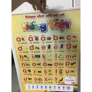 Bảng chữ cái và số 2 mặt song ngữ thumbnail