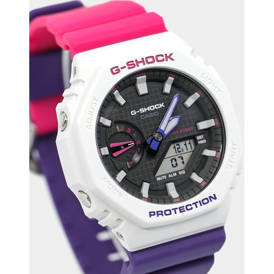 Đồng Hồ Nam Casio G-Shock GA-2100 Dây Nhựa - Cấu Trúc Lõi Carbon trong suốt - nam tính mạnh mẽ bảo hành quốc tế 12 tháng