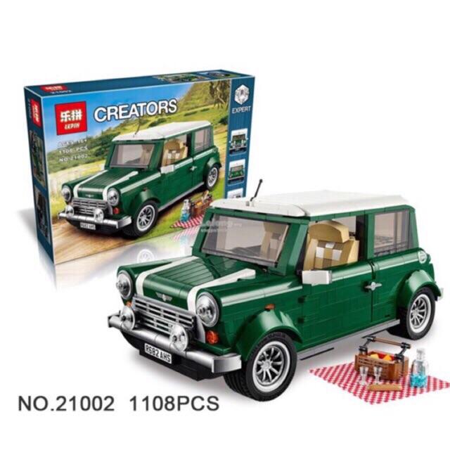 Lego Creators 21002 - Xe mini cooper màu xanh ngọc lục bảo
