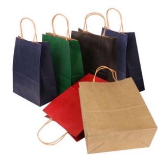 Túi giấy kraft 160gsm-7 màu -9 Size- bán tối thiểu 50cái cho 1 mẫu.🍒 Tặng : Mua 500 túi tặng 500cái decal logo khách.
