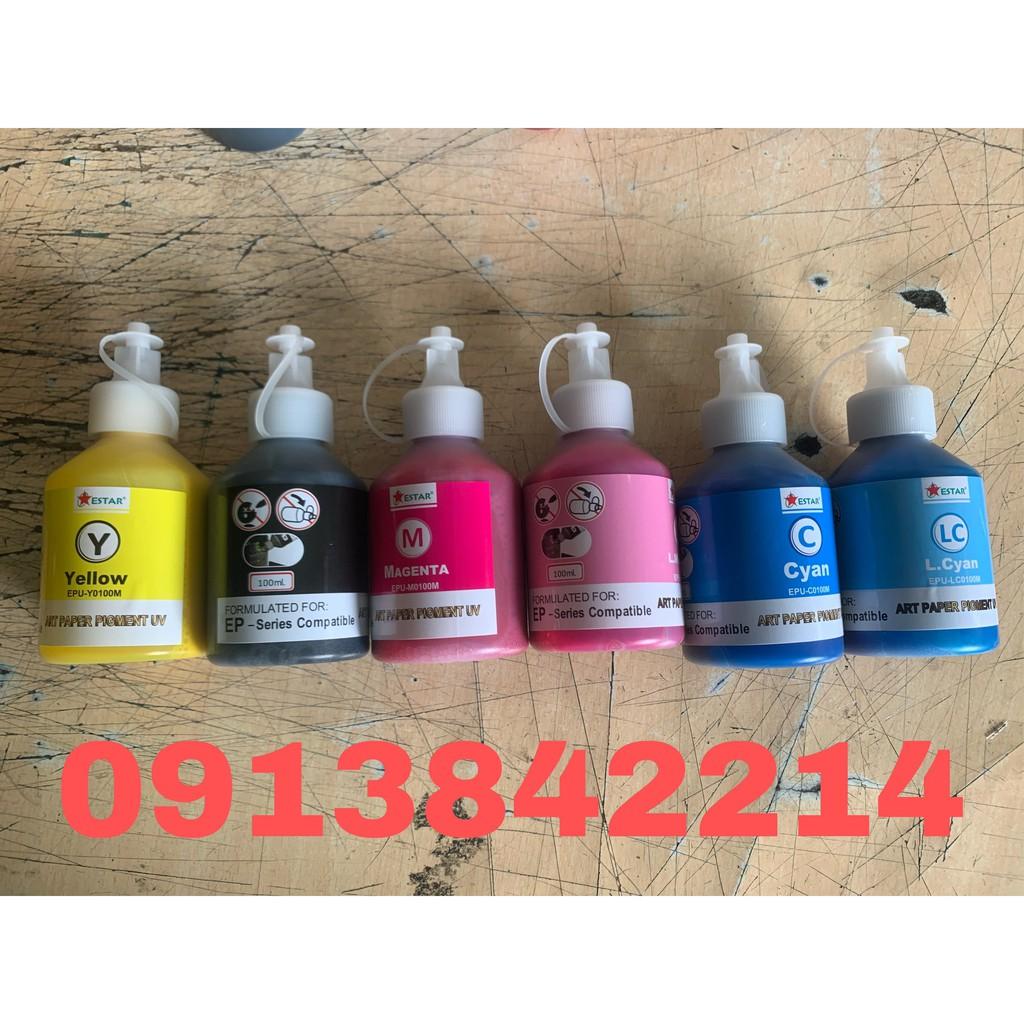 mực dầu pigment Art paper pigment UV cho tất cả các dòng máy in epson