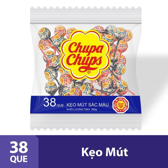 Kẹo mút Chupa Chups Tô Màu Hương Trái Cây Hỗn Hợp Tô Màu 38 Que