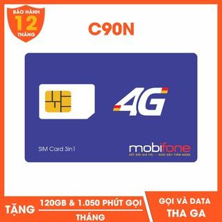 Sim 4G nghe gọi Mobifone, gói C90N, miễn phí tháng đầu.