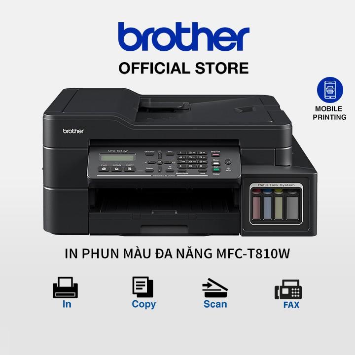 [BROT150 - GIẢM 150K] Máy in phun màu đa năng (có Fax) Brother MFC-T810W