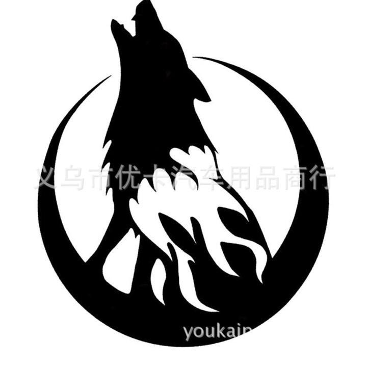 Tem chó sói hú cực cá tính | Decal Tem Chó Sói