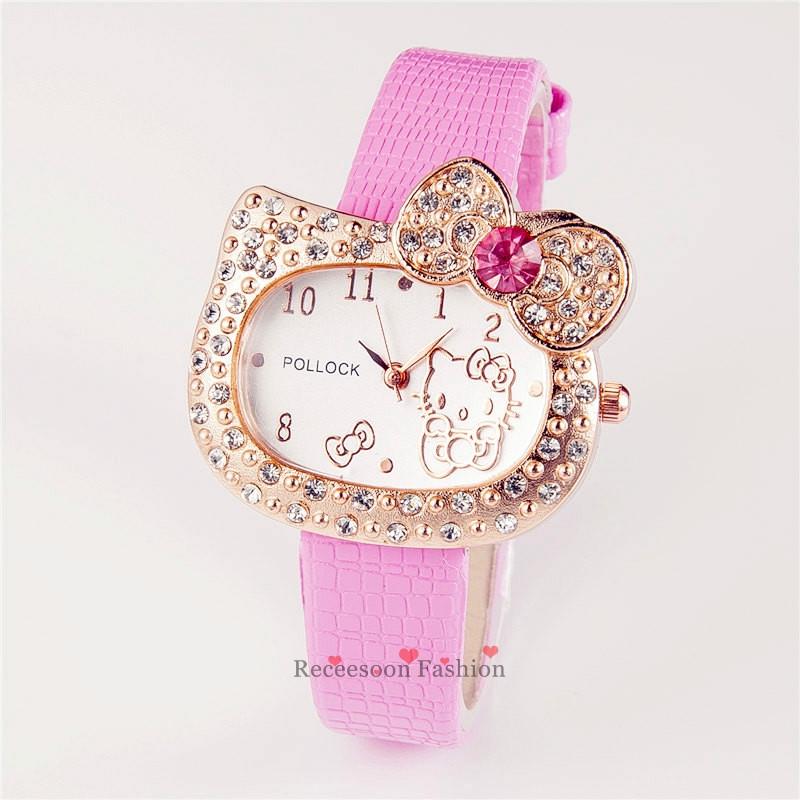 [Mã CBS0703B hoàn 10% tối đa 30K xu 200K] Đồng hồ đeo tay hình Hello Kitty cho bé gái