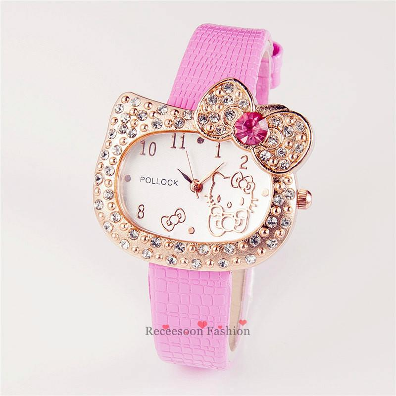 [Mã FASHION3399 hoàn 15% xu đơn từ 99k] Đồng hồ đeo tay hình Hello Kitty cho bé gái thumbnail