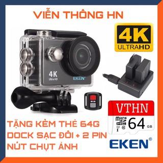 Camera hành trình 4k Eken H9r bản mới V8 nâng cấp 20MP tặng 2 pin + 1 dock sạc đôi - tặng thẻ 64gb - vienthonghn thumbnail