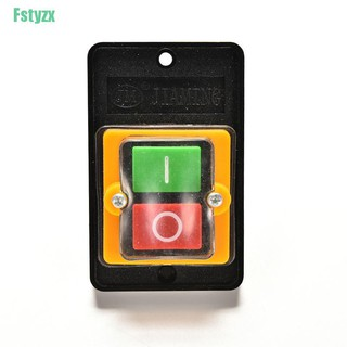 fstyzx 10A 380V KAO-5 Water Proof ON/OFF Push Button Machine Drill Switch Plastic Motor