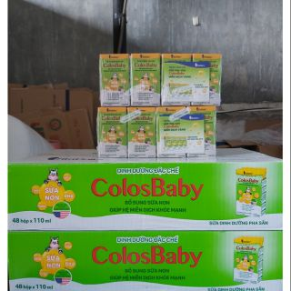 ( Tặng gói fullfish 80 g)1 thùng Sữa bột pha sẵn colosbaby 110ml(48 hộp)