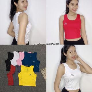 Áo croptop sát nách thể thao cho nữ, chất thun 4 chiều, phù hợp tập Gym, Yoga, đi chơi