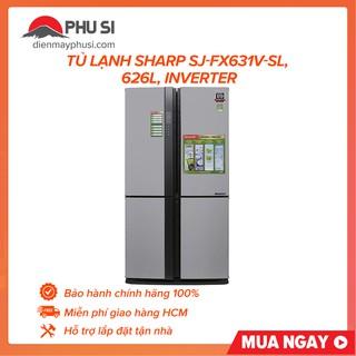 [GIAO HCM] Tủ lạnh Sharp SJ-FX631V-SL, 626L, Inverter