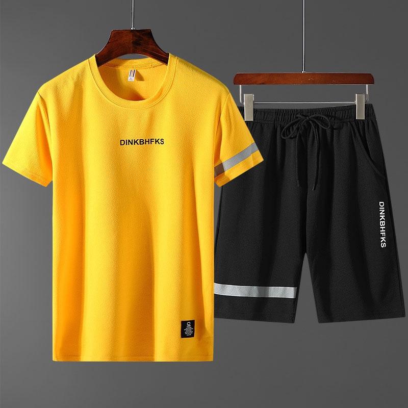 Set áo thun ngắn tay + quần ngắn dành cho nam phong cách thời trang