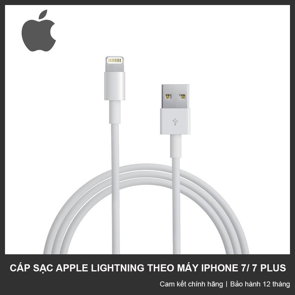 Cáp sạc theo máy iPhone 7/ 7 Plus/ 8/ 8 Plus Apple Lightning - Bảo hành 12 tháng - 2986387 , 1122670053 , 322_1122670053 , 250000 , Cap-sac-theo-may-iPhone-7-7-Plus-8-8-Plus-Apple-Lightning-Bao-hanh-12-thang-322_1122670053 , shopee.vn , Cáp sạc theo máy iPhone 7/ 7 Plus/ 8/ 8 Plus Apple Lightning - Bảo hành 12 tháng