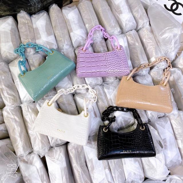 Túi xách nữ 💖Freeship💖túi kẹp nách xích nhựa bản to đeo cực chất và hottrend 2020