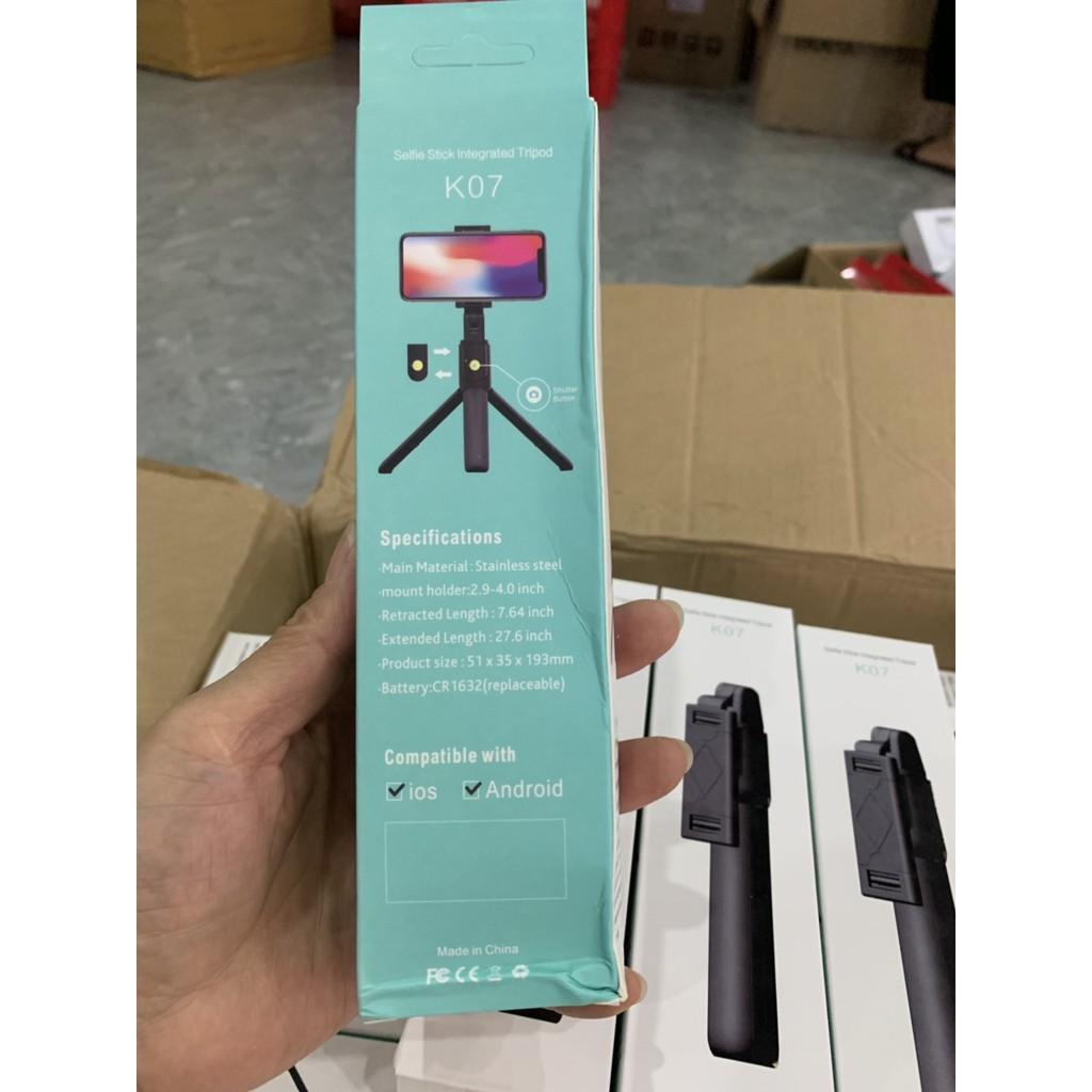 Gậy Chụp Ảnh Tự Sướng Bluetooth 3 Chân Đa Năng – Tripod K07 – Chụp Hình Selfie