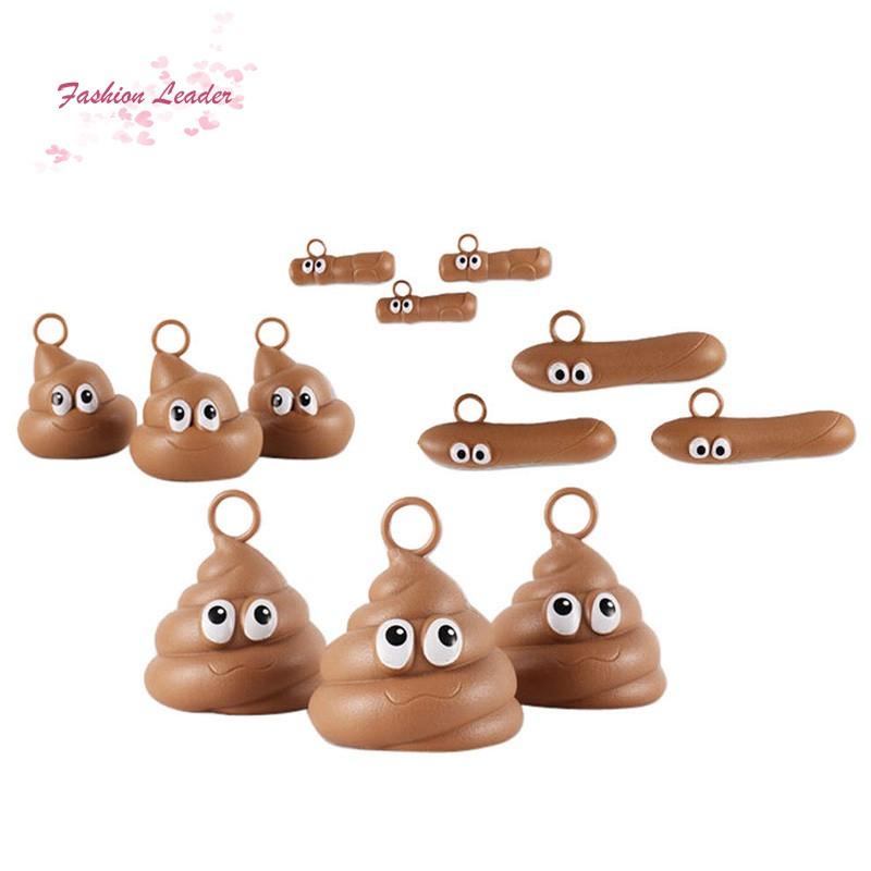 Funny Kids Bath Fishing Game Toy Set Floaters Poo Float Bathing Prank Toys