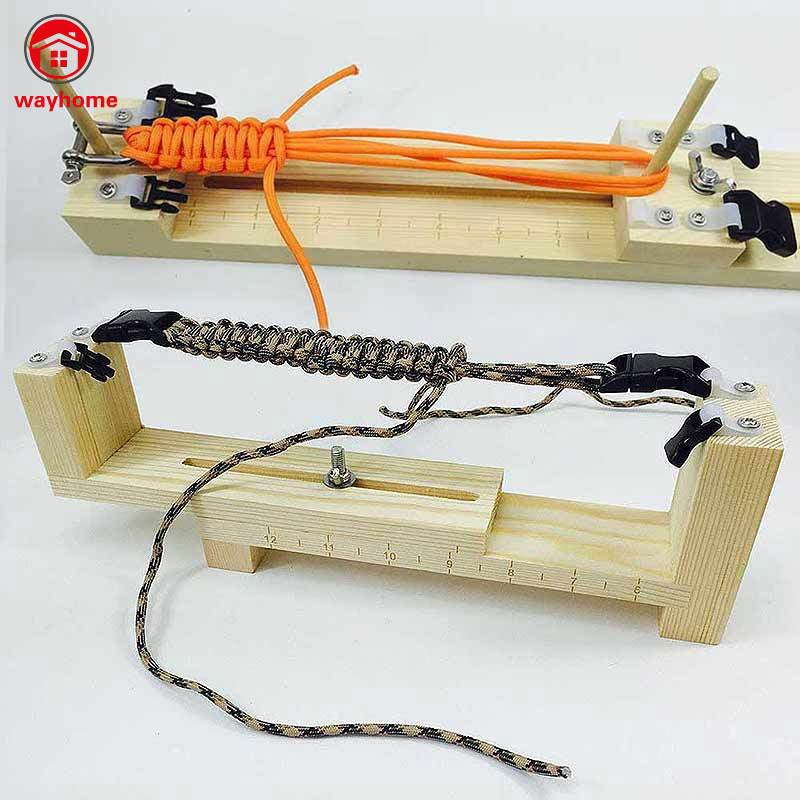 Solid Wood Paracord Jig Bracelet Maker Braided Parachute Cord Weaving Tools