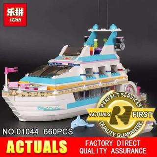 Lego Friends 41045 Girl Series Dolphin Cruiser Lepin 01044 Xếp Hình Du Thuyền Cá Heo Bela 10172 Qà Cho Các Bé