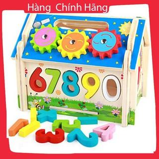 Đồ chơi ngôi nhà thả hình đập bóng bánh răng cho bé_Hàng chất lượng cao