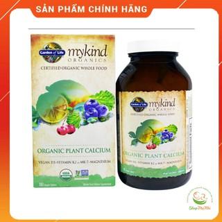 Canxi hữu cơ Mykind garden of life 180v- organic plant calcium. thumbnail