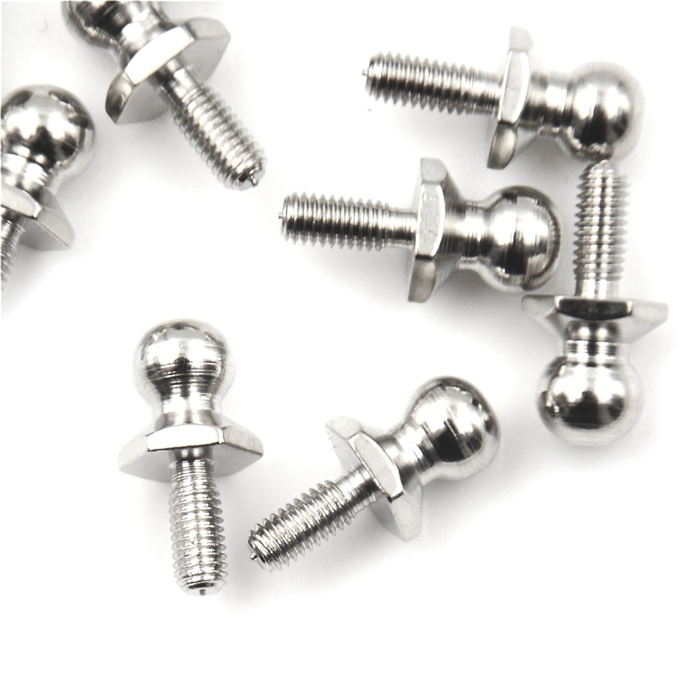LOVEU* 10Pcs HSP Ball Head Screw For RC 1/10 Model Car Buggy Truck Spare Parts