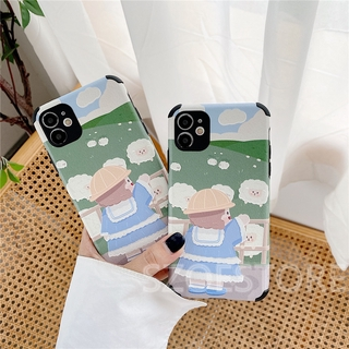 Cartoon Cute Counting Sheep Girl Bread Duck Skin-Friendly Anti-Fall Soft Phone Case Cover for iPhone 11 Pro Max X Xs Xr Xsmax 8 7 Plus Se 2020 Xiaomi RedmiNote9 RedmiNote8Pro RedmiNote8 RedmiNote7