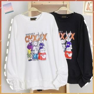 1hitshop Áo Sweater Nỉ Bông KAWS CHXXX Form Rộng Ulzzang Unisex (Ảnh Thật)