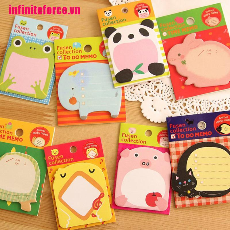 [IN*VN]Cute Kawaii Animal Sticker Bookmark It Marker Memo Index Tab Sticky Post Notes