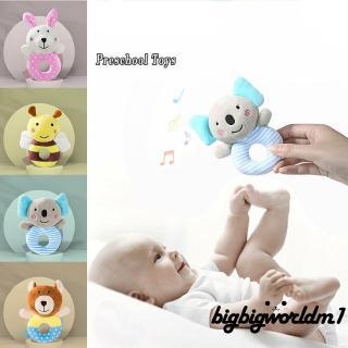 ❀DEM☞Newborn Infant Baby Bed Bells Soft Hanging Toys Daisy Bee Handbells Rattles Toys